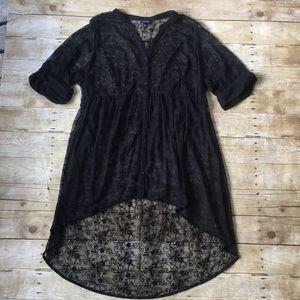 Torrid Sheer Floral Maxi Shirt Size 3X